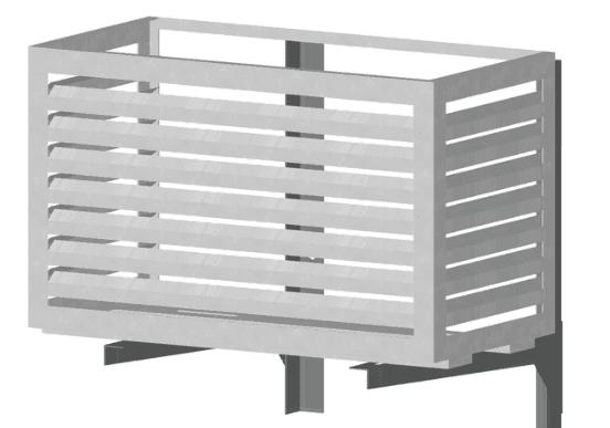 Корзинка с фасадом сделанным в виде вентиляционной решетки.
